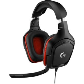 Logitech G332 kablet gaming headset, sort