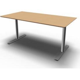 Inline Kantinebord, L 120 cm, Bøg/Alu