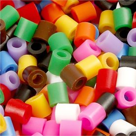 Nabbi Rørperler, 30000 stk, standardfarver