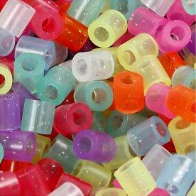 Nabbi Rørperler, 20000 stk, glitterfarver