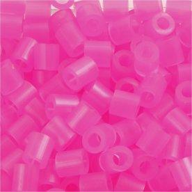 Nabbi Rørperler, 1100 stk, rosa neon (30)