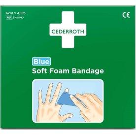 Cederroth Soft Foam Bandage, blå, 6 cm x 4,5 m