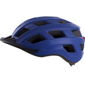 Cykelhjelm urban baglygte m blå