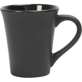 Krus m. hank, konisk, H: 10 cm, sort