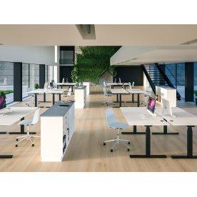 Cube Design Flow hæve/sænkebord, 140x80, hvid/hvid