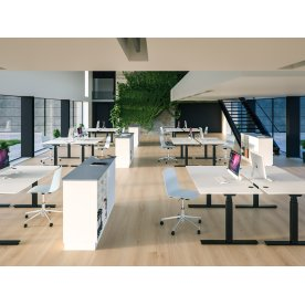 Cube Design Flow hæve/sænkebord, 180x80, hvid/hvid