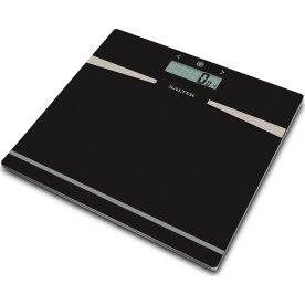 Salter glas vægt med analyse, op til 180 kg, sort