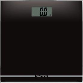 Salter elektronisk glas vægt, sort