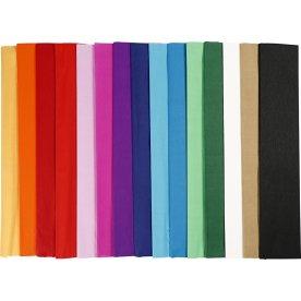 Play Cut Crepepapir, 50x250cm, 15 læg, ass. farver