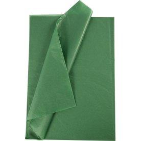 Silkepapir, 50x70 cm, 14g, 25 ark, grøn