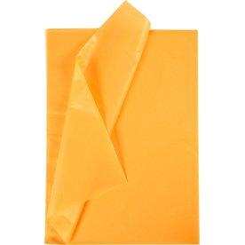 Silkepapir, 50x70 cm, 14g, 25 ark, gul