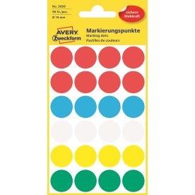 Avery 3089 manuelle etiketter, 18 mm, 96 stk, ass.