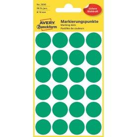 Avery 3006 manuelle etiketter, 18mm, 96stk, grøn