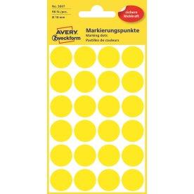 Avery 3007 manuelle etiketter, 18mm, 96stk, gul