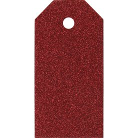 ViviGade Manillamærker 5x10cm, 15stk, glitter rød