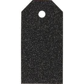 ViviGade Manillamærker 5x10cm, 15stk, glitter sort