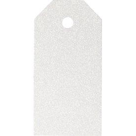 ViviGade Manillamærker 5x10cm, 15stk, glitter hvid