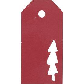 Vivi Gade Manillamærker, 5x10 cm, 15 stk, rød