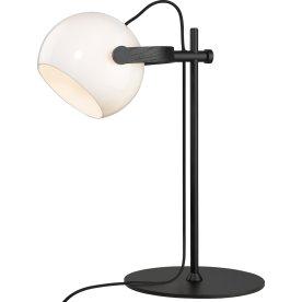 D.C bordlampe, Ø 18 cm, Opal/Eg