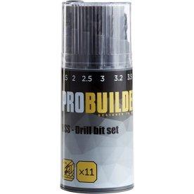 Probuilder borsæt, sort oxide, 11 dele