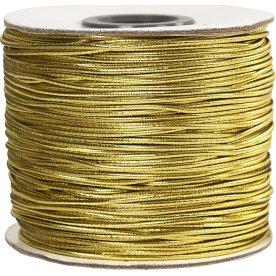 Elastiksnor, 1 mm x 100 m, guld