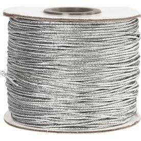 Elastiksnor, 1 mm x 100 m, sølv