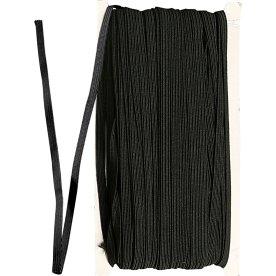 Elastikbånd, 6 mm x 50 m, sort
