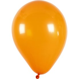 Balloner, orange, 10 stk