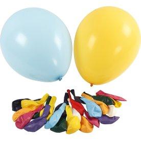 Kæmpe Balloner, ass. farver, 50 stk