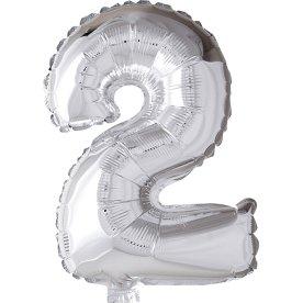 Folieballon, sølv, 2-tal