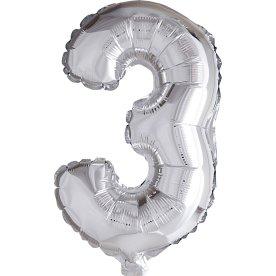 Folieballon, sølv, 3-tal