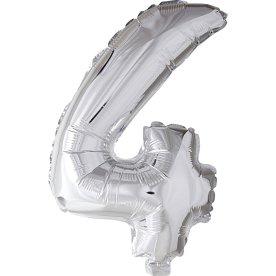 Folieballon, sølv, 4-tal