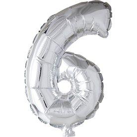 Folieballon, sølv, 6-tal