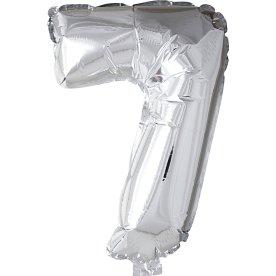 Folieballon, sølv, 7-tal