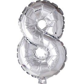 Folieballon, sølv, 8-tal