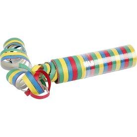 Serpentiner, gul/grøn/rød/blå, 10 ruller