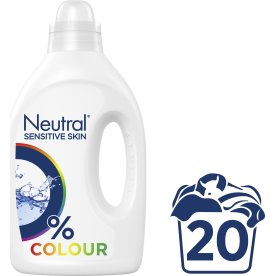 Neutral Flydende Vaskemiddel, Colour, 1000 ml