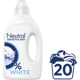 Neutral Flydende Vaskemiddel, White, 1000 ml