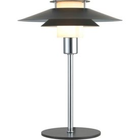 Rivoli Bordlampe, Ø24 cm, Sort/Krom