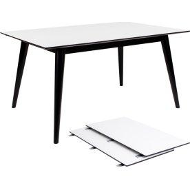 Copenhagen Spisebord, L: 150/230 cm, hvid/sort