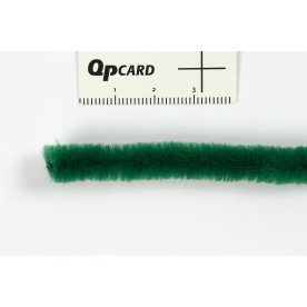 Chenille Piberensere 9 mm, grøn, 25 stk
