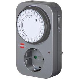 Brennenstuhl tænd/sluk ur – 230V timer, grå