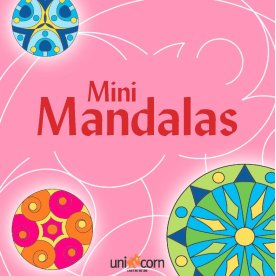 Mini Mandalas malebog, pink