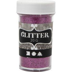 Glitterdrys, pink, 20 g
