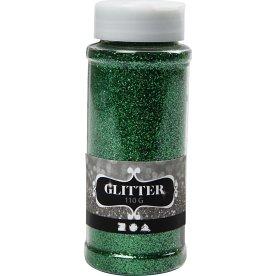 Glitterdrys, grøn, 110 g