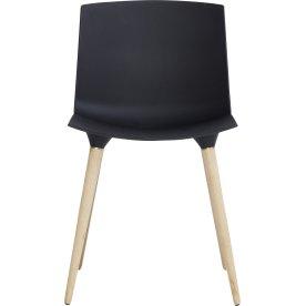 TAC stol, Sort/Eg hvid hvidpig. mat lak