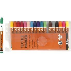 Tekstiltusser, 2-4 mm, 18 farver
