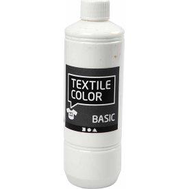 Tekstilmaling, 500 ml, hvid