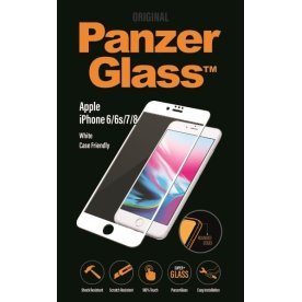 PanzerGlass casefriendly til iPhone 6/6S/7/8, hvid