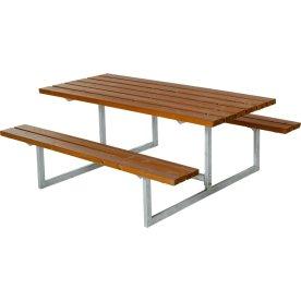 Plus Basic bord-bænkesæt, Grundmalet teak
